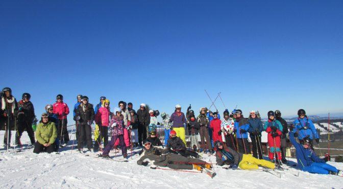 Les jeunes au ski