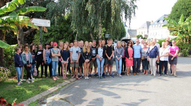 Carnac : échange des jeunes